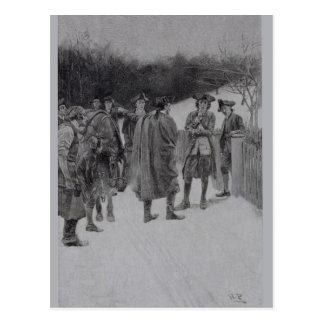 Paul Revere Bringing News to Sullivan Postcard