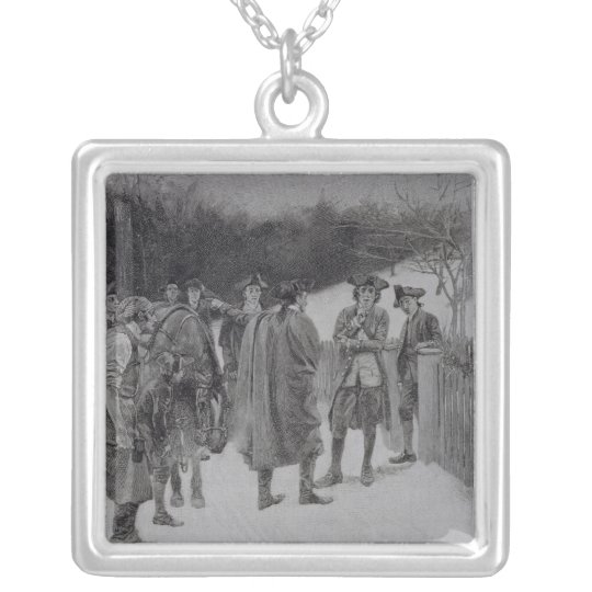 Paul Revere Bringing News to Sullivan Silver Plated Necklace