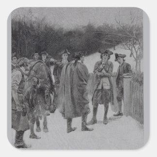 Paul Revere Bringing News to Sullivan Square Sticker