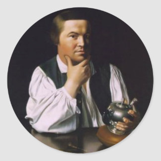 Paul Revere Classic Round Sticker