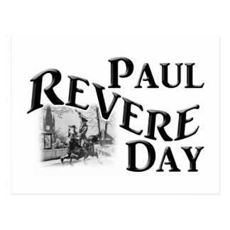Paul Revere Day Postcard