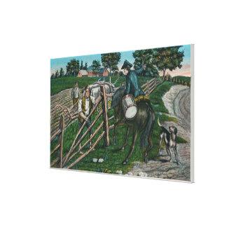 Paul Revere Informing Gen. Israel Putnam Gallery Wrap Canvas