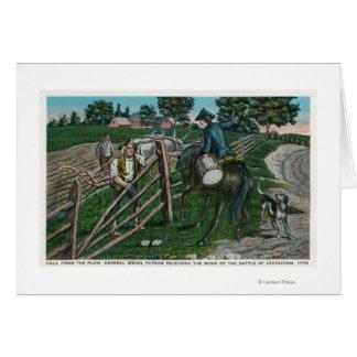 Paul Revere Informing Gen. Israel Putnam Card