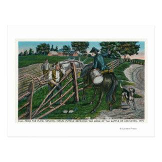 Paul Revere Informing Gen. Israel Putnam Postcard