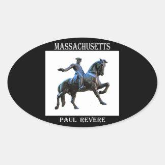 Paul Revere (Massachusetts) Oval Sticker