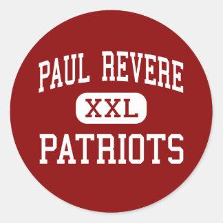Paul Revere - Patriots - Middle - Houston Texas Classic Round Sticker