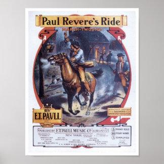 Paul Revere s Ride Vintage Songbook Cover Print
