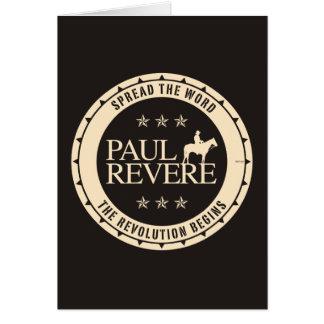 Paul Revere Tarjeta De Felicitación