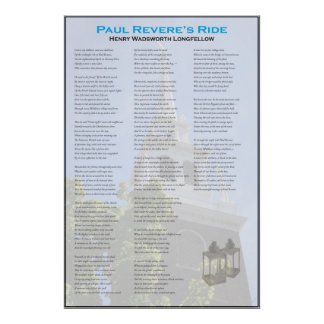 Paul Revere's Midnight Ride by Longfellow Poster