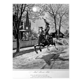 Paul Revere's Ride.  1775_War Image Postcard