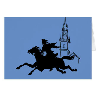 Paul Revere's Ride Stationery Note Card