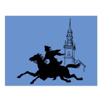 Paul Revere's Ride Postcard