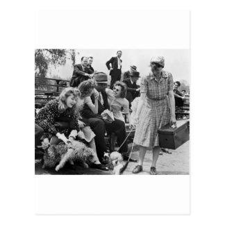 Paul Robeson y amigos los años 40 Postales