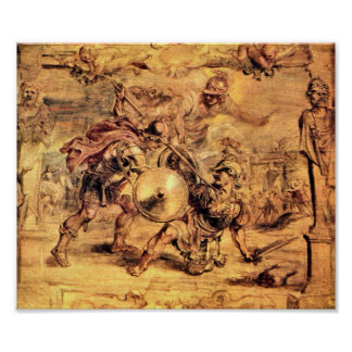 Paul Rubens - Achilles defeats Hector Print