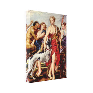 Paul Rubens - Diana with nymphs Gallery Wrapped Canvas