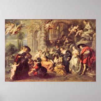 Paul Rubens - Love Garden Print