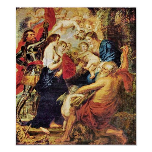 Paul Rubens - Madonna con los santos Póster