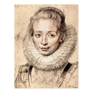 Paul Rubens - Portrait of the artists daughter Cla Postcard