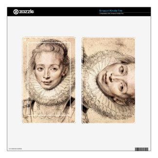 Paul Rubens - retrato del Cla de la hija de los ar Skins Para Kindle Fire