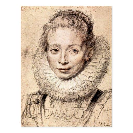 Paul Rubens - retrato del Cla de la hija de los ar Tarjetas Postales