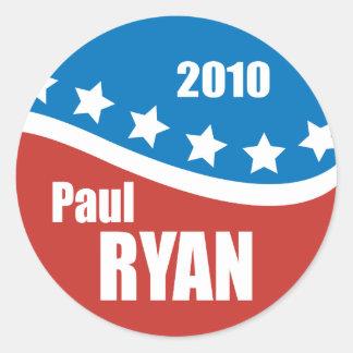 Paul Ryan 2010 Pegatina Redonda