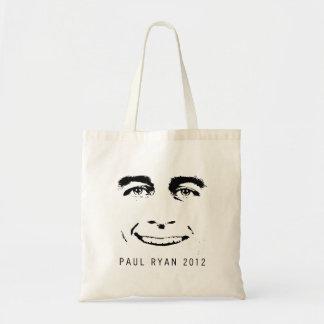 PAUL RYAN 2012 FACE.png Bolsas Lienzo