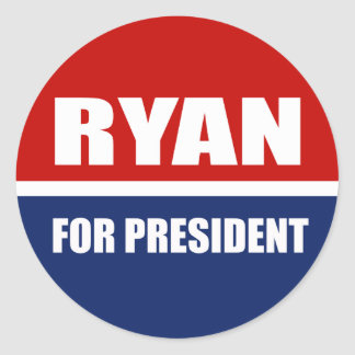 Paul Ryan 2012 Pegatina Redonda