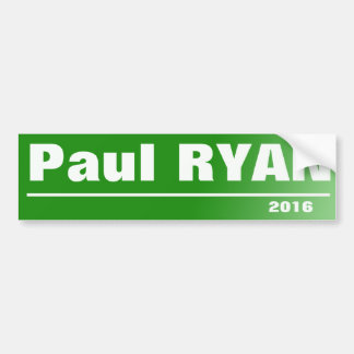 Paul Ryan 2016 Bumper Sticker