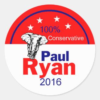 Paul Ryan 2016 Classic Round Sticker