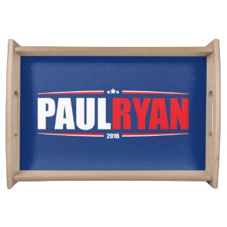 Paul Ryan 2016 (estrellas y rayas - azul) Bandejas