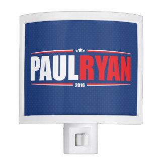 Paul Ryan 2016 (estrellas y rayas - azul) Lámparas De Noche
