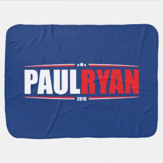 Paul Ryan 2016 (estrellas y rayas - azul) Mantas De Bebé