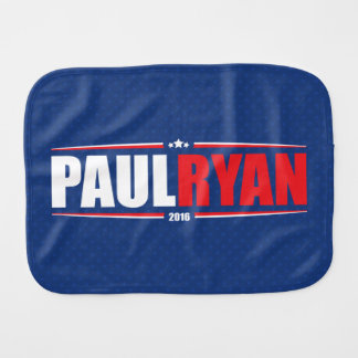 Paul Ryan 2016 (estrellas y rayas - azul) Paños De Bebé