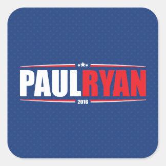 Paul Ryan 2016 (estrellas y rayas - azul) Pegatina Cuadrada