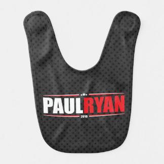 Paul Ryan 2016 (estrellas y rayas - negro) Baberos De Bebé