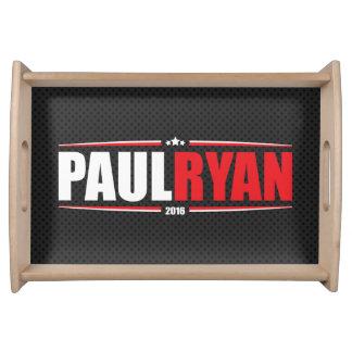 Paul Ryan 2016 (estrellas y rayas - negro) Bandeja