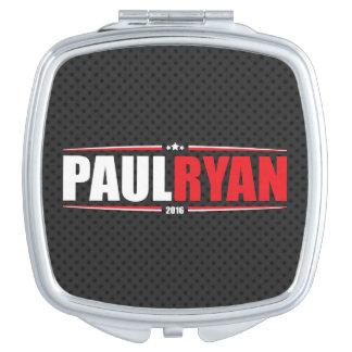 Paul Ryan 2016 (estrellas y rayas - negro) Espejo Para El Bolso