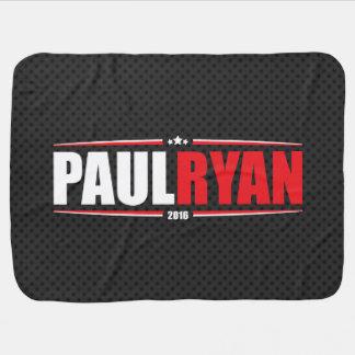 Paul Ryan 2016 (estrellas y rayas - negro) Mantita Para Bebé