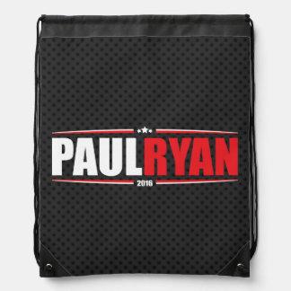 Paul Ryan 2016 (estrellas y rayas - negro) Mochila