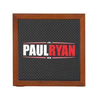 Paul Ryan 2016 (estrellas y rayas - negro) Organizador De Escritorio