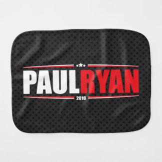Paul Ryan 2016 (estrellas y rayas - negro) Paños Para Bebé