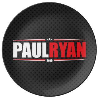 Paul Ryan 2016 (estrellas y rayas - negro) Platos De Cerámica