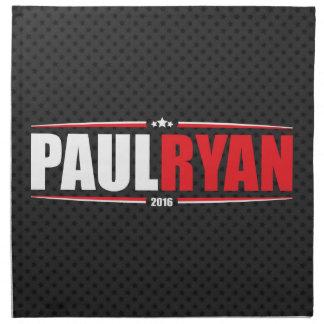 Paul Ryan 2016 (estrellas y rayas - negro) Servilletas