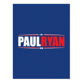Paul Ryan 2016 (Stars & Stripes - Blue) Postcard