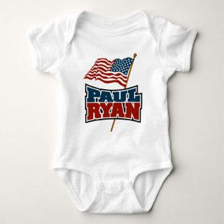 Paul Ryan American Flag Baby Bodysuit