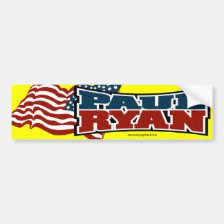 Paul Ryan American Flag Bumper Sticker