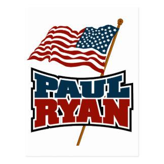 Paul Ryan American Flag Postcard