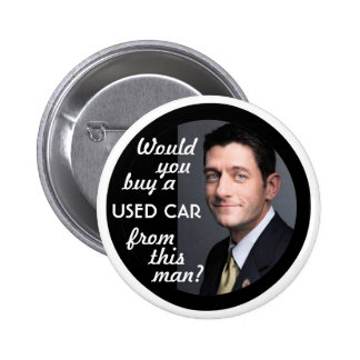 Paul Ryan Car Salesman Pinback Button
