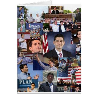 Paul Ryan en las tarjetas de nota del collage de
