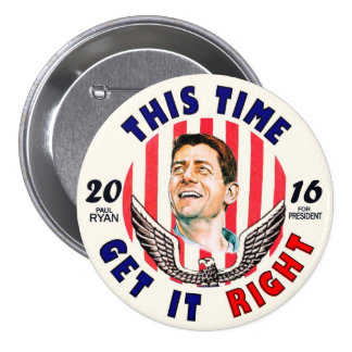 Paul Ryan for President 2016 Button